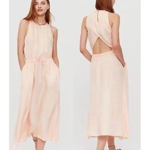 NWT Lou & Grey peach open back midi dress